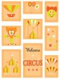 Το τσίρκο - σύνολο εικονιδίων Στοκ εικόνα με δικαίωμα ελεύθερης χρήσης