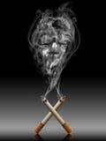 το τσιγάρο con υπερβολικά &sigm ελεύθερη απεικόνιση δικαιώματος