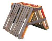 Το τυποποιημένο παράξενο γράμμα Α αποτελείται από τους ξύλινους πίνακες πεύκων Στοκ φωτογραφία με δικαίωμα ελεύθερης χρήσης