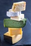το τυρί δακτυλογραφεί διάφορο Στοκ Φωτογραφίες