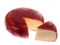 το τυρί κάλυψε το ολλανδικό γκούντα ένταμ γύρω από το κερί Στοκ Φωτογραφίες