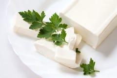 το τυρί τεμαχίζει μαλακό Στοκ Φωτογραφία