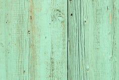 Το τυρκουάζ χρωμάτισε τον παλαιό ξύλινο τοίχο Στοκ Εικόνα