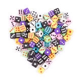 Το τυχερό παιχνίδι χωρίζει σε τετράγωνα το σύμβολο καρδιών που απομονώνεται στο λευκό Στοκ εικόνες με δικαίωμα ελεύθερης χρήσης