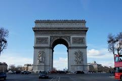 Arc de Triomphe Παρίσι Γαλλία Στοκ Εικόνες