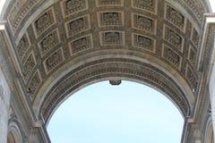 Το τόξο de Triomphe de l'Ã ‰ toile στο Παρίσι, Γαλλία Στοκ φωτογραφίες με δικαίωμα ελεύθερης χρήσης