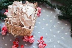 Το τύλιγμα εγγράφου του Κραφτ Χριστουγέννων παρουσιάζει το διάστημα αντιγράφων Στοκ εικόνα με δικαίωμα ελεύθερης χρήσης