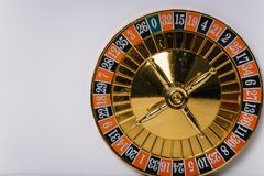 Το τύμπανο από τη ρουλέτα casino ότι το ζωή-παιχνίδι μας Στοκ Φωτογραφίες