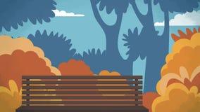 Το υπαίθριο διανυσματικό υπόβαθρο πάρκων για τα κινούμενα σχέδια, ζωτικότητα, διαφημίζει, Στοκ Φωτογραφίες