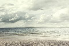 Το υπερφυσικό φως φωτίζει ένα όμορφο ωκεάνιο τοπίο Στοκ εικόνες με δικαίωμα ελεύθερης χρήσης