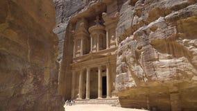 Το Υπουργείο Οικονομικών στα φαράγγια της Petra απόθεμα βίντεο