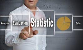 Το υπόβαθρο έννοιας στατιστικής παρουσιάζεται από το άτομο Στοκ φωτογραφία με δικαίωμα ελεύθερης χρήσης