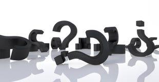 Το υπόβαθρο ερωτηματικών τρισδιάστατο δίνει την τρισδιάστατη απεικόνιση Στοκ Εικόνες
