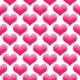 Το υπόβαθρο ημέρας του άνευ ραφής βαλεντίνου σχεδίων απεικόνισης καρδιών χρωμάτισε το ροζ διανυσματική απεικόνιση