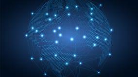 Το υπόβαθρο, το μέλλον έχει έρθει αφηρημένος γήινος πλανήτη&sigma Διαδίκτυο, κοινωνικά δίκτυα αιώνας 21 διανυσματική απεικόνιση