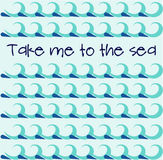 Το υπόβαθρο με τα μπλε κύματα επίσης corel σύρετε το διάνυσμα απεικόνισης Στοκ εικόνα με δικαίωμα ελεύθερης χρήσης