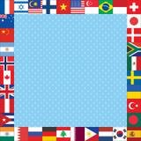 Το υπόβαθρο με τον κόσμο σημαιοστολίζει το πλαίσιο Στοκ φωτογραφία με δικαίωμα ελεύθερης χρήσης