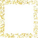 Το υπόβαθρο με χρυσό ακτινοβολεί, κομφετί Χρυσά σημεία Πόλκα, κύκλοι, κύκλος Φωτεινός εορταστικός, διανυσματική απεικόνιση σχεδίω διανυσματική απεικόνιση