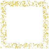 Το υπόβαθρο με χρυσό ακτινοβολεί, κομφετί Χρυσά σημεία Πόλκα, κύκλοι, κύκλος Φωτεινός εορταστικός, διανυσματική απεικόνιση σχεδίω απεικόνιση αποθεμάτων