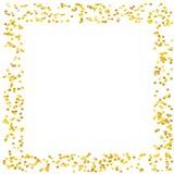 Το υπόβαθρο με χρυσό ακτινοβολεί, κομφετί Χρυσά σημεία Πόλκα, κύκλοι, κύκλος Φωτεινός εορταστικός, διανυσματική απεικόνιση σχεδίω ελεύθερη απεικόνιση δικαιώματος