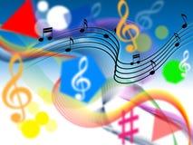 Το υπόβαθρο μουσικής παρουσιάζει αρμονία ή παίζοντας συντονίστε απεικόνιση αποθεμάτων