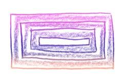 Το υπόβαθρο σκίτσων κλίσης γοητείας με το φυσικό υπόβαθρο μολυβιών, αφηρημένες γραμμές, και ξύνει με μια πράσινη κλίση ελεύθερη απεικόνιση δικαιώματος