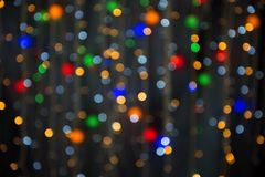 Το υπόβαθρο στεφανιών γιρλαντών χρώματος, Στοκ Φωτογραφίες