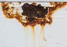 Το υπόβαθρο τοίχων με κρεμά της σκουριάς Στοκ Εικόνες