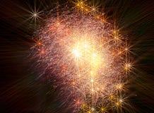 Το υπόβαθρο των αστρικών πυροτεχνημάτων Στοκ Φωτογραφίες