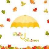 Το υπόβαθρο φθινοπώρου με το φθινόπωρο βγάζει φύλλα ελεύθερη απεικόνιση δικαιώματος