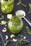 Το δυτικό ανακάρδιο Arugula πράσινο Pesto Στοκ εικόνα με δικαίωμα ελεύθερης χρήσης