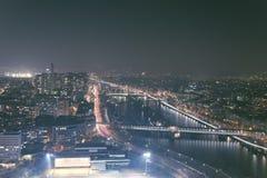 Το δυτικό τμήμα του Παρισιού από τον πύργο του Άιφελ Στοκ Εικόνα