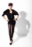 το υψηλό μοντέλο μόδας θέτ&eps Στοκ Φωτογραφίες