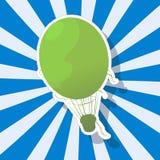 Το φανταστικό μπαλόνι ζεστού αέρα Στοκ Εικόνα