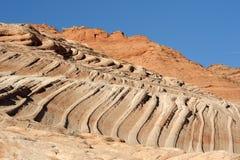 Το φαράγγι Paria, πορφυροί απότομοι βράχοι, Αριζόνα Στοκ φωτογραφία με δικαίωμα ελεύθερης χρήσης