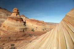 Το φαράγγι Paria, πορφυροί απότομοι βράχοι, Αριζόνα Στοκ Εικόνες