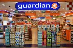 Το φαρμακείο φυλάκων διατηρεί το κατάστημα που βρίσκεται στη Σιγκαπούρη Στοκ φωτογραφία με δικαίωμα ελεύθερης χρήσης