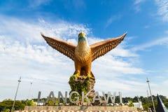 Το Φεβρουάριο του 2017 - Langkawi, Μαλαισία - τετράγωνο αετών Στοκ εικόνα με δικαίωμα ελεύθερης χρήσης