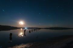 Το φεγγάρι κάνει το πράγμα του Στοκ φωτογραφία με δικαίωμα ελεύθερης χρήσης