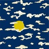Το φεγγάρι και τα σύννεφα ελεύθερη απεικόνιση δικαιώματος