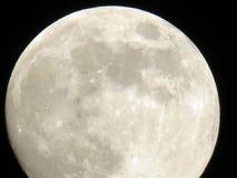 Το φεγγάρι στο νυχτερινό ουρανό Στοκ εικόνες με δικαίωμα ελεύθερης χρήσης