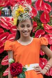 Το φεστιβάλ λουλουδιών της Μαδέρας, Φουνκάλ, Μαδέρα, Portu Στοκ εικόνα με δικαίωμα ελεύθερης χρήσης