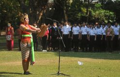 Το φεστιβάλ γιορτάζει τον τουρισμό παγκόσμιας ημέρας στην Ινδονησία Στοκ φωτογραφίες με δικαίωμα ελεύθερης χρήσης