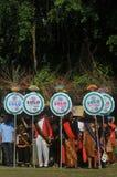 Το φεστιβάλ γιορτάζει τον τουρισμό παγκόσμιας ημέρας στην Ινδονησία Στοκ Εικόνα