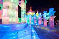 Το φεστιβάλ πάγος-φαναριών Στοκ εικόνα με δικαίωμα ελεύθερης χρήσης