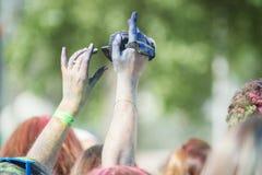 Το φεστιβάλ Holi χρώματος Στοκ Εικόνες