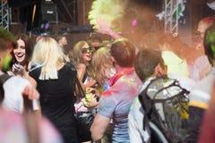 Το φεστιβάλ Holi χρώματος Στοκ Φωτογραφίες
