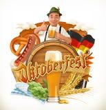Το φεστιβάλ Oktoberfest μπύρας του Μόναχου, το διάνυσμα μπορεί επίσης να χρησιμοποιηθεί από οποιουσδήποτε κατασκευαστές μπύρας ελεύθερη απεικόνιση δικαιώματος