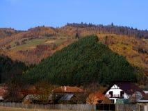 Το φθινόπωρο χρωματίζει κοντά στην πόλη Zarnesti στοκ φωτογραφία με δικαίωμα ελεύθερης χρήσης