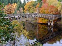 το φθινόπωρο χρωματίζει killiecrankie στοκ φωτογραφία